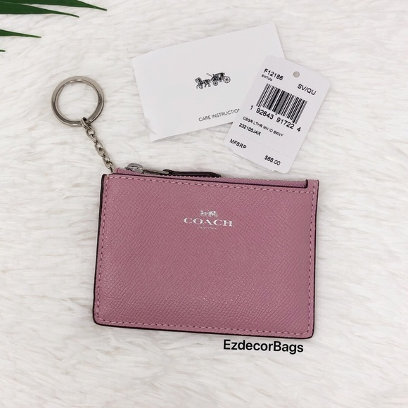 ee29e9bb NWT COACH Mini Skinny ID Case Card Holder -Tulip- NWT
